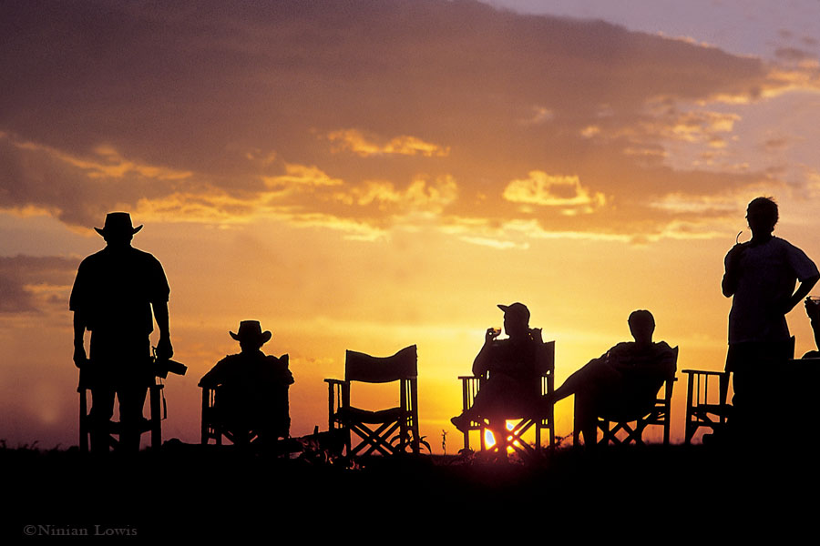 Watching the sunset from the Laikipia Highlands in Kenya